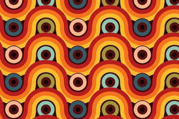 Geometrisch hip patroon met verschillende vormen
