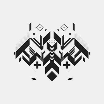 Geometrisch insect achtergrond ontwerp