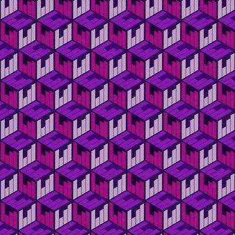 Geometrisch kubus naadloos patroon