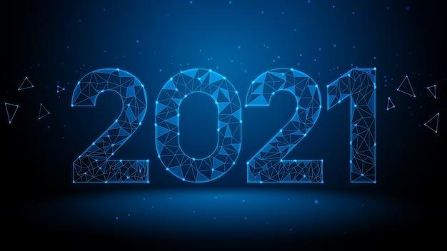 Geometrisch laag veelhoekig 2021-nummer