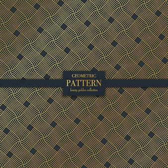 Geometrisch luxe donker gouden lijnpatroon