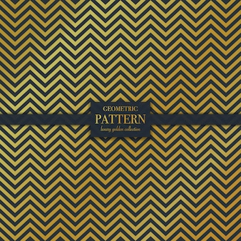 Geometrisch luxe gouden golvend lijnpatroon