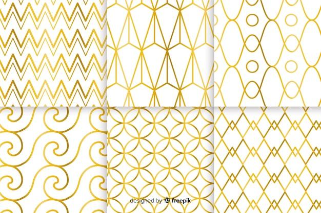 Geometrisch luxe patroon collectie concept