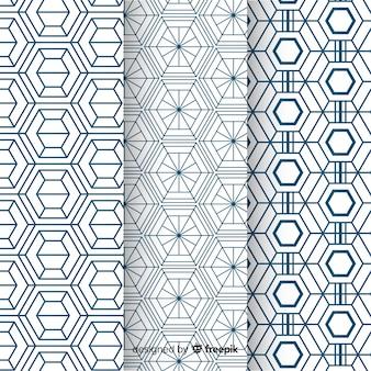 Geometrisch luxe patroonpakket