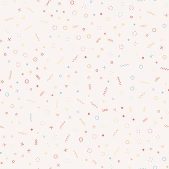 Geometrisch memphis-stijl naadloos patroon.