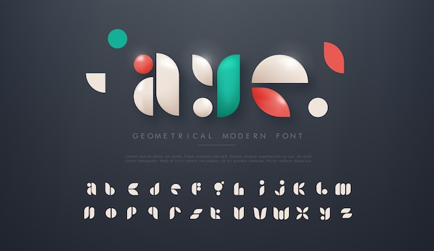 Geometrisch modern lettertype