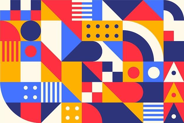 Geometrisch muurschildering behang