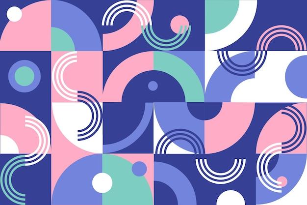 Geometrisch muurschilderingbehang met abstracte vormen