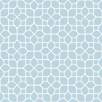 Geometrisch naadloos abstract bloemenpatroon