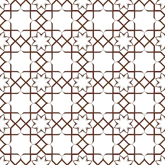 Geometrisch naadloos gestileerd bloemenpatroon in oosterse stijl