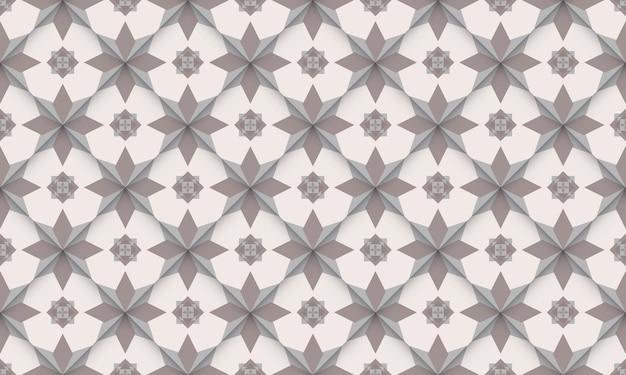 Geometrisch naadloos patroon eenvoudig ontwerp