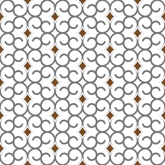 Geometrisch naadloos patroon in arabische stijl