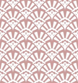 Geometrisch naadloos patroon met gestileerde shells
