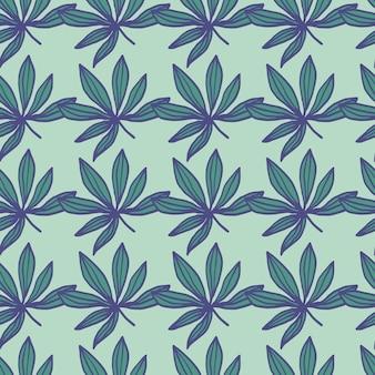 Geometrisch naadloos patroon van het drugblad.