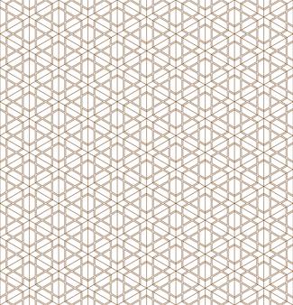 Geometrisch naadloos patroon van japans ornament.