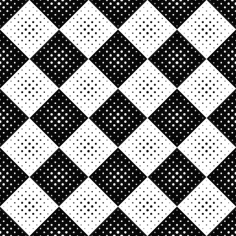 Geometrisch naadloos zwart-wit cirkelpatroon
