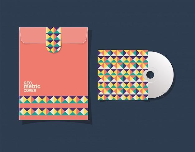 Geometrisch omslagbestand en cd