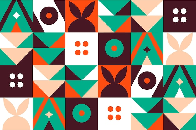 Geometrisch ontwerp muurschildering behang