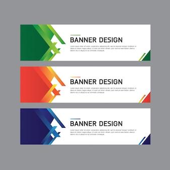 Geometrisch ontwerp van de banner