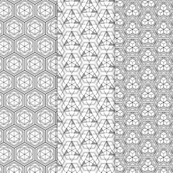 Geometrisch patroon collectie thema