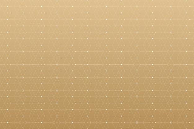 Geometrisch patroon met aaneengesloten lijnen en punten