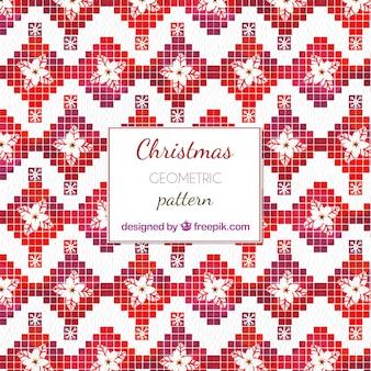 Geometrisch patroon met kerst motieven
