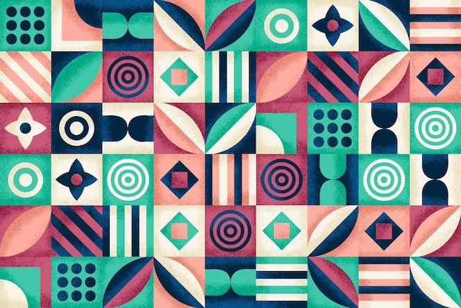 Geometrisch patroon met korreltextuur