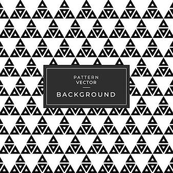 Geometrisch patroon naadloze driehoek zwart en wit