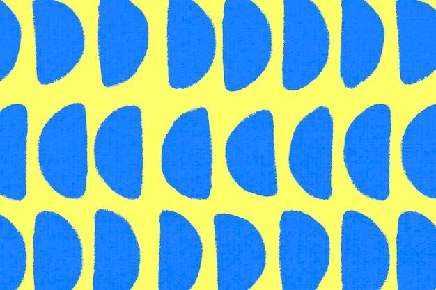 Geometrisch patroon, textiel vintage achtergrond vector in geel