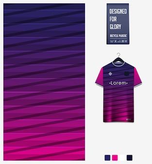 Geometrisch patroon voor voetbalshirt