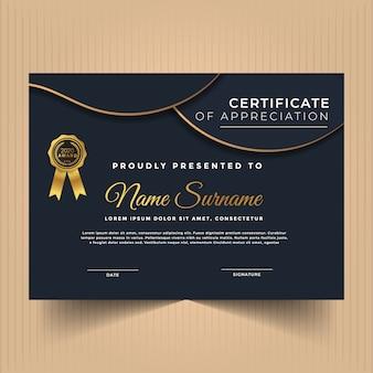 Geometrisch premium multifunctioneel certificaat diploma sjabloon