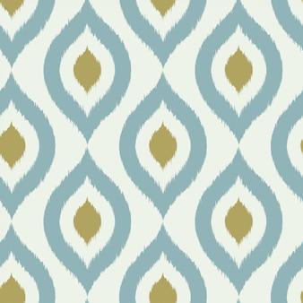Geometrisch retro ikat stammen naadloos patroon