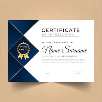 Geometrisch rood certificaat van waardering sjabloon