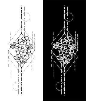 Geometrisch tattoo-ontwerp