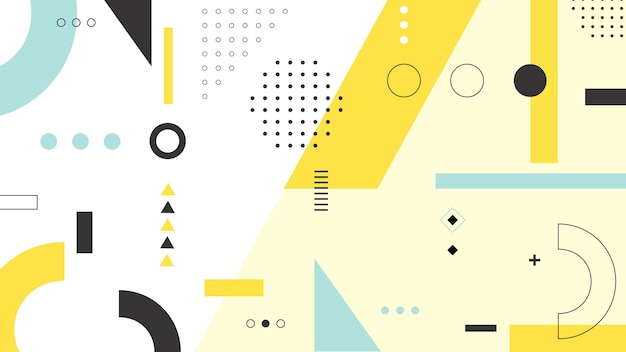 Geometrisch vormenontwerp als achtergrond Gratis Vector
