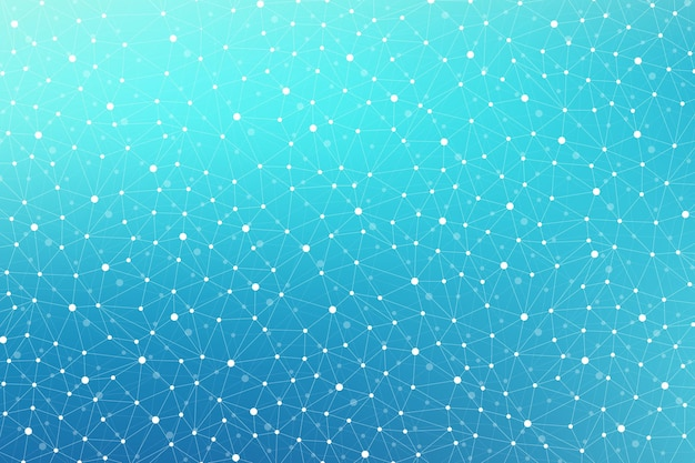 Geometrisch wetenschappelijk patroon met lijnen en punten
