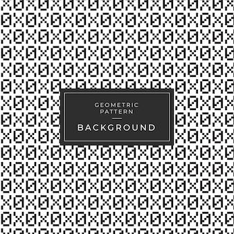 Geometrisch zwart-wit patroon met aantallen