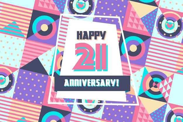Geometrische 21 verjaardag achtergrond