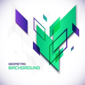 Geometrische 3d abstracte achtergrond