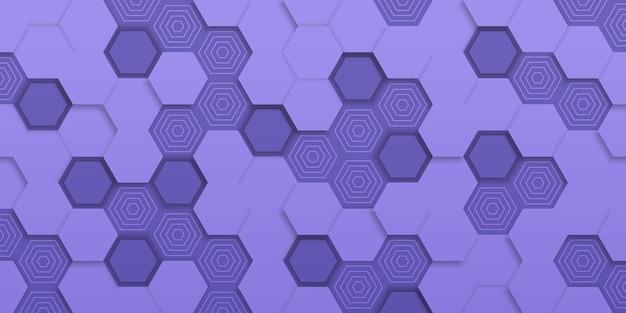 Geometrische abstracte achtergrond met zeshoeken in papierstijl