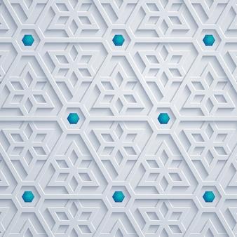 Geometrische abstracte achtergrond van het ornament de arabische patroon