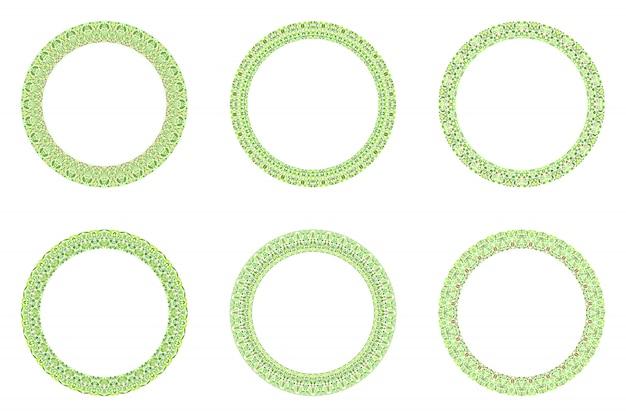 Geometrische abstracte bloemencirkelreeks