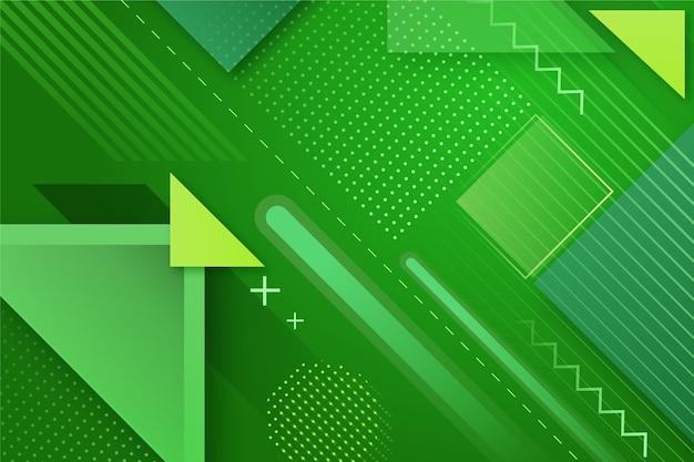 Geometrische abstracte groene achtergrond