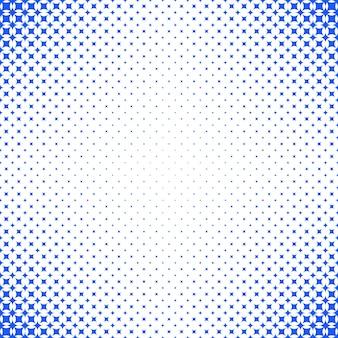 Geometrische abstracte halftone ster patroon achtergrond - vector grafisch met blauwe gebogen sterren op een witte achtergrond