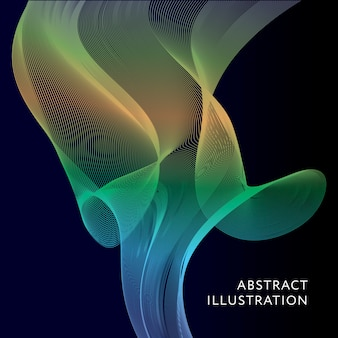 Geometrische abstracte illustratie achtergrond vector banner
