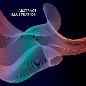 Geometrische abstracte illustratie achtergrond vectorvorm