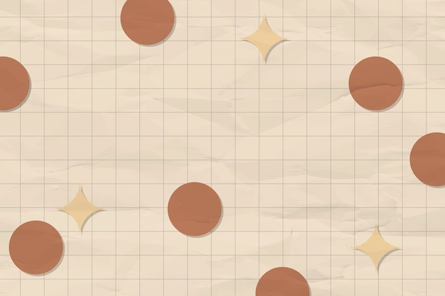 Geometrische achtergrond, aardetinten met rastervector