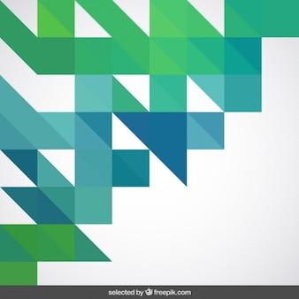 Geometrische achtergrond in blauw een groene tinten
