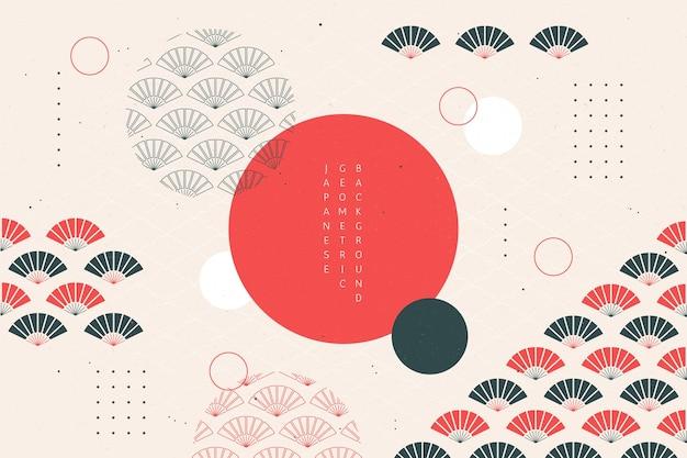 Geometrische achtergrond in japanse stijl