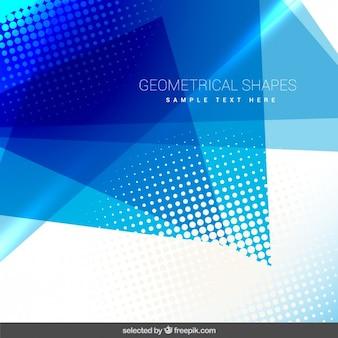 Geometrische achtergrond met blauwe vormen
